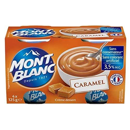 Mont Blanc Crème Dessert Caramel (lot de 4)