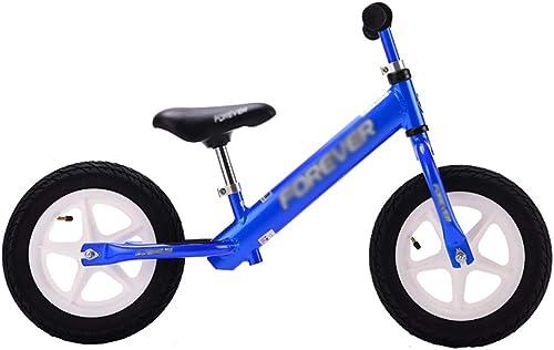 Draisiennes Vélo d'équilibre Sport pour Enfants avec poignée réglable et siège en Cuir, vélo d'entraîneHommest sans pédale pour Enfants de 2 à 8 Ans, Charge de 154 LB (Couleur   Bleu)