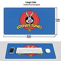 マウスパッドバッグスバニー (3) ファッションゲーム マウスパッ 超大型 防水 滑り止め 人気 男女兼用 プレゼント Pc オフィス 利用可能 ド 滑り止めラバーベース付き