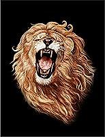 【FOX REPUBLIC】【吠えるライオン】 黒マット紙(フレーム無し)A2サイズ