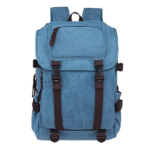 Minetom Lona Backpack Mochilas Escolares Mochila Escolar Casual Bolsa Viaje Moda Plaza Colegio Universitario Estilo Cielo Azul One Size(30 * 12 * 44 Cm)
