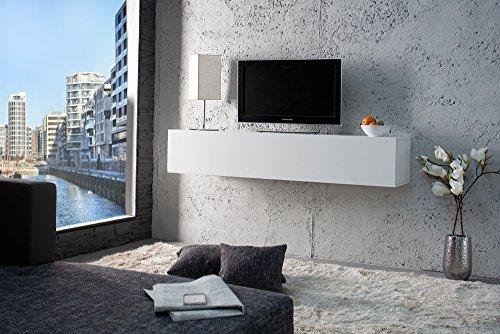 Lc Spa Pensile con 1 Anta, Orizzontale, MOD. Cube, 139 x 29 x 31 cm, Bianco Lucido