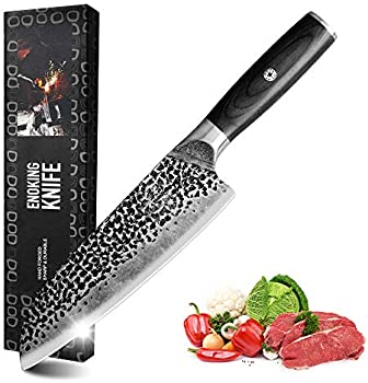 Enoking Santoku 7 Inch Forged Japanese Chef Knife