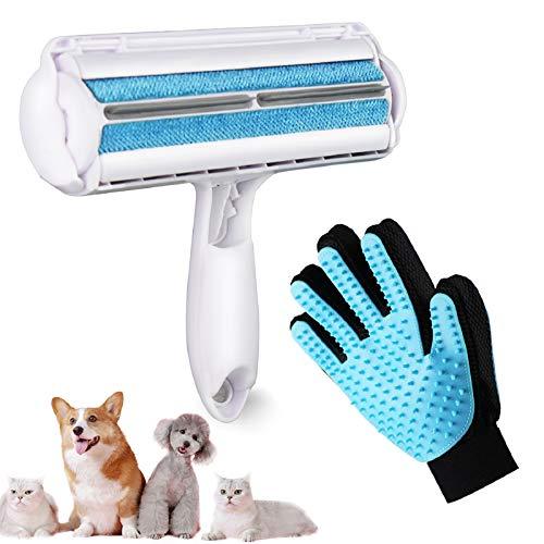VIMOV Rodillo Removedor de Pelo para Mascotas Reutilizable, Cepillo de Limpieza para Perros, Quita Pelos de Gato & Cepillo para Guantes Limpiar el Automóvil, Ropa, Muebles, Sofá, Alfombras