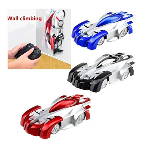 Wall Climbing RC Car - Kinderspielzeug Wall Stunt Car Dual Modi 360 ° Drehung RC Cars Fahrzeuge Spielzeug Kinderspiele Lustige Geschenke Coole Gadgets für Jungen Mädchen Teenager Erwachsene (Red)