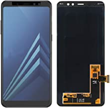 LCD Display Screen Digitizer Touch Screen Glass Panel Assembly Replacement for Galaxy A8 Plus 2018-A730. (Black)