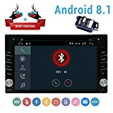 Backup Camera Included£¡Android 8.1 Double Din Car Stereo with DVD Player GPS Navigation