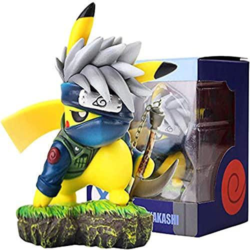 HUANHE Pikachu Cosplay Kakashi Model,Pikachu Cosplay Figure Collectible Model,Anime Action Figure Gifts