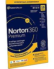 Norton 360 Premium 2021, antivirussoftware, internetbeveiliging, 10 Apparaten, 1 Jaar abonnement met automatische verlenging, Secure VPN en Password Manager,PCs, Macs, tablets en smartphones,envelop
