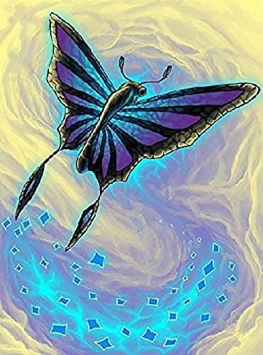 HXXCB Kit de Pintura de Diamantes 5D Completo,diamond painting diamantes imitación Punto de Cruz Artes Lienzo Decoración para la pared del hogar DIY 30X40CmMariposa negra