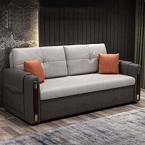 Accueil Équipement Canapé-lit pliant Canapé-lit 2 en 1 Lit convertible avec fonction de rangement Causeuse multifonctionnelle Canapé-lit Canapé-lit Futon Pull Out Lazy Sofa Bed Furniture for Apartm