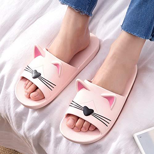Sandalen rutschfeste Frauen Männer Sommer Hausschuhe Rutschsandalen Strand Baden Flip Flops 3D Cartoon Katzen Dicker Boden Komfort Paar Komfortschuhe
