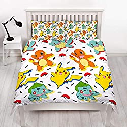 CLASSIC POKEMON DESIGN: 'Gotta catch em all' with this vibrant Pokémon duvet set as a host of characters take over this funky duvet set. Pokémon fans will be desperate to catch their favourite characters and snuggle down at bedtime. The vibrant desig...