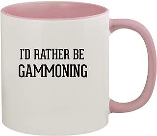 I'd Rather Be GAMMONING - 11oz Ceramic Colored Inside & Handle Coffee Mug, Pink