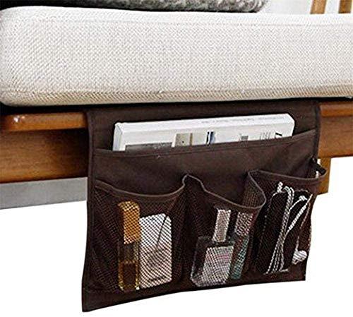 Jilibaba Nachttisch-Organizer mit Aufbewahrungstasche, Organizer für Tablet,...