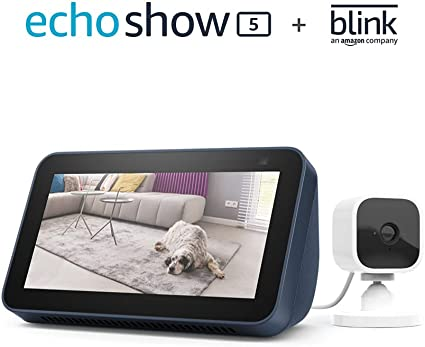 Amazon.com: All-new Echo Show 5 (2nd Gen, 2021 release) - Deep Sea Blue bundle with Blink Mini : Everything Else