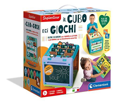 Clementoni-Il cubo dei Giochi Sapientino Gioco Creativo, Multicolore, 16255