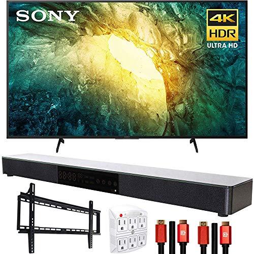 Sony KD65X750H 65' X750H 4K Ultra HD LED TV (2020) with Deco Gear Soundbar Bundle