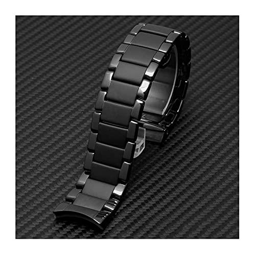 REDCVBN Reloj Inteligente de cerámica con Hebilla de Acero Inoxidable, Correa de Repuesto de liberación rápida, Pulsera de 20 mm y 22 mm (Color: Color Brillante, tamaño: 22 mm)