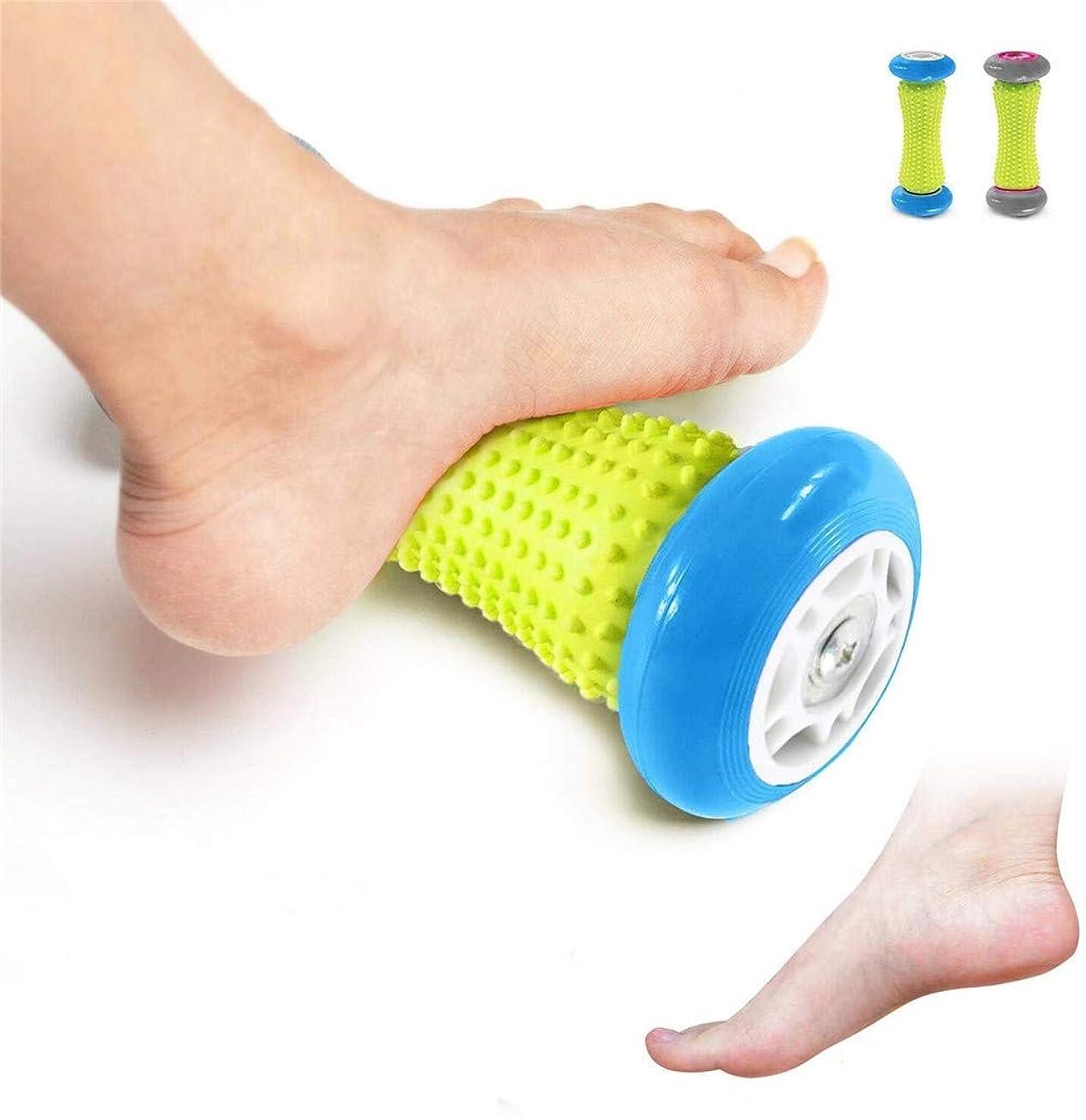 レギュラーロビー頭蓋骨フットマッサージローラー - 筋肉ローラースティック - 足底筋膜炎のための手首と前腕運動ローラー (Color : 青)