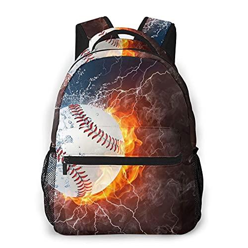 Jiaoqi Bolso de escuela de las mochilas de viaje casual del papel pintado del béisbol para los regalos de los hombres de las mujeres