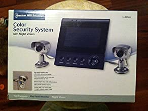 Color Security System with Two Infrared Night Vision Cameras and Flat Panel M...