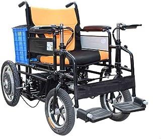 Yaeele a prueba de golpes Silla médica de rehabilitación, sillas de ruedas, silla de ruedas eléctrica, inteligente ligero plegable Llevar duradero sillas de ruedas eléctricas de cuatro rondas, anciano
