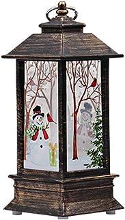 Fossrn, LED Vela Adornos Navidad Originales Rusticos Vintage Decoracion Mesa Casa