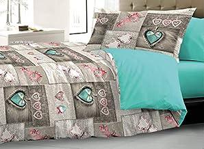 HomeLife Kołdra na łóżko dwuosobowe/łóżko zimowe, kołdra na jesień / zimę dwustronna ciepła podszewka wymiary 180 x 250/22...
