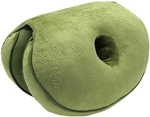 AYCYNI Comfort Cushion Folding Pillow, Portable Ergonomic Contoured Seat, Chair Pad for Car Truck Home Office Computer,Green,Latex,Green,Plush