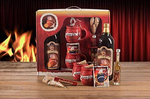 Feuerzangentasse Geschenkset, Klassisch, Rot/Après-Ski - für Feuerzangenbowle
