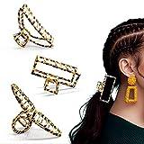 Uni-Fine Shop 3 St Haarklammer Groß Metall Rutschfest Haarspangen Modischer Leopardenmuster Klaue...
