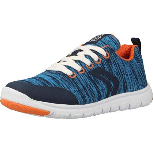 Geox Jungen J Xunday Boy L Sneaker, Blau (Navy), 34 EU