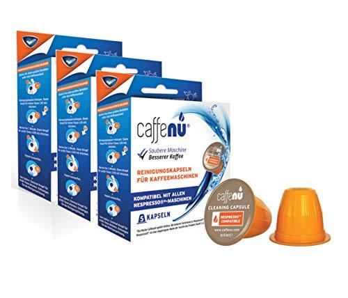 CaffeNu - Kompatible Reinigungskapseln für Ihre Nespresso Maschine (3 Packungen mit 5 Kapseln)