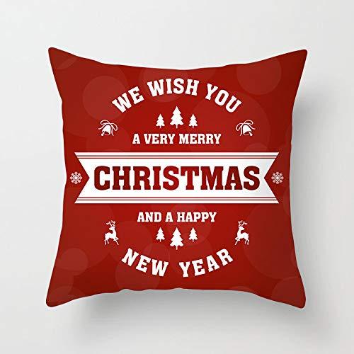 DuangDuang Christmas Throw Pillow Christmas Tree Digital Printed Golden Sofa Pillow Cushion Hugging Pillow Case