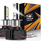 Pulilang H3 Bombillas LED para Faros Delanteros, COB Chips, 60W 12000LM 6500K IP65, Bombillas LED para Coche, 2 bombillas