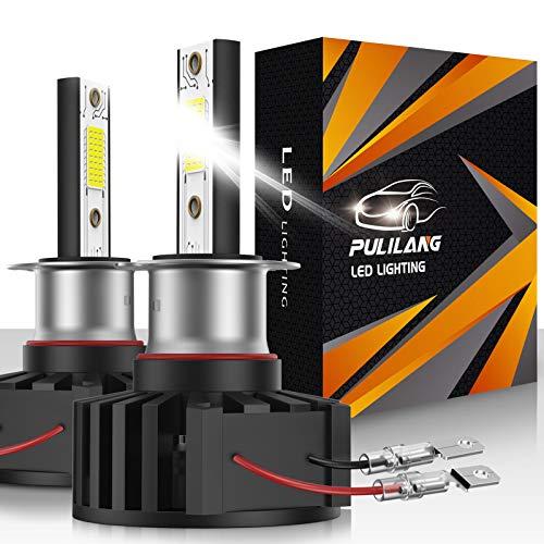 Bombillas de faros LED H3 H3C Faros Antiniebla Luz de coche LED 60W 12000 lúmenes Conversión de faros a prueba de agua súper brillante Temperatura de color 6500K IP65 Paquete de 2