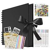 KASZOO Fotoalbum, Fotoalbum zum Selbstgestalten, DIY Fotobuch 80 Seiten, Kann als Abschluss Geschenk, Geburtstagsgeschenk, Hochzeitstagsgeschenk, Valentinstagsgeschenk und mehr verwendet Werden …