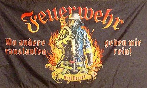 U24 Fahne Flagge Feuerwehr Real Heroes Feuerwehrfahne 90 x 150 cm