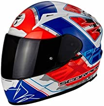SCORPION–Cascos Moto–Scorpion Exo 2000Evo Air Brutus blanco perla rojo neon azul