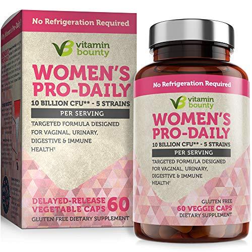 Vitamin Bounty Probiotic & Prebiotic for Women - 10 Billion CFUs Per Serving with Cranberry, 5 Strains - for Feminine Health, bv Defense & pH Balance