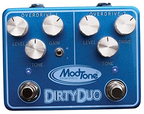 ModTone Guitar Effects MT-DUO Dirty Duo Dual Overdrive and Distortion Guitar Effects Pedal
