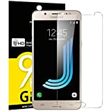 NEW'C Lot de 3, Verre Trempé pour Samsung Galaxy J5 2016 (SM-J510), Film Protection écran - Anti Rayures - sans Bulles d'air -Ultra Résistant (0,33mm HD Ultra Transparent) Dureté 9H Glass