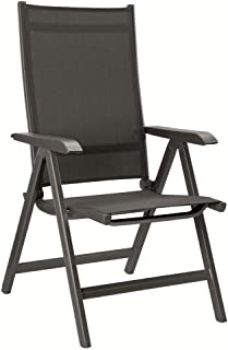 Kettler Basic Plus Folding Multiposition Chair - Gray/Gray
