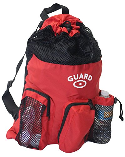 Adoretex Guard Mesh Equipment Backpack, Free Whistle and Lanyard - GB001 - Red/Black