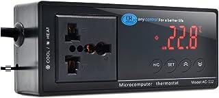 SANZONE 10 A/110 V  デジタル温度コントロール  LCDディスプレイ  3Pプラグ付き センササーモスタット 加熱冷却制御 16℃〜40℃
