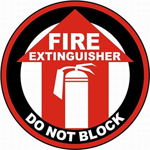 Anjoes Feuerlöscher Do Not Block Floor Schild Sicherheitsschild Hinweisschild Warnung Straße rund Blechschild 30,5 x 30,5 cm