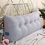 ZHZG Cojines cabecero Triángulo Almohadas de la Cama Suave Paquete Gran sofá Cama Tatami Amortiguador Trasero Respaldo Desmontable y Lavable (Color : Gray, Size : 150cm(59 Inches))