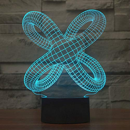 Zyue Verzerrte 3D Led Nachtlicht Bunte Atmosphäre Lampe 3D Vision Stereo Lampe Schlafzimmer Licht Für Geburtstag Wohnzimmer Lichter,Nur berühren