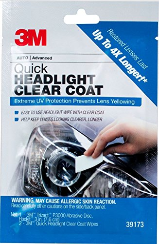 3M Quick Headlight Clear Coat, Cleans and Prevents Lens Yellowing